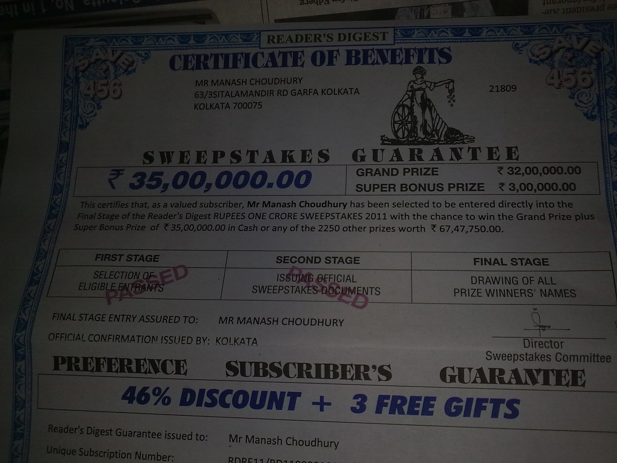 reader s digest is cheating public by fake prize information for all
